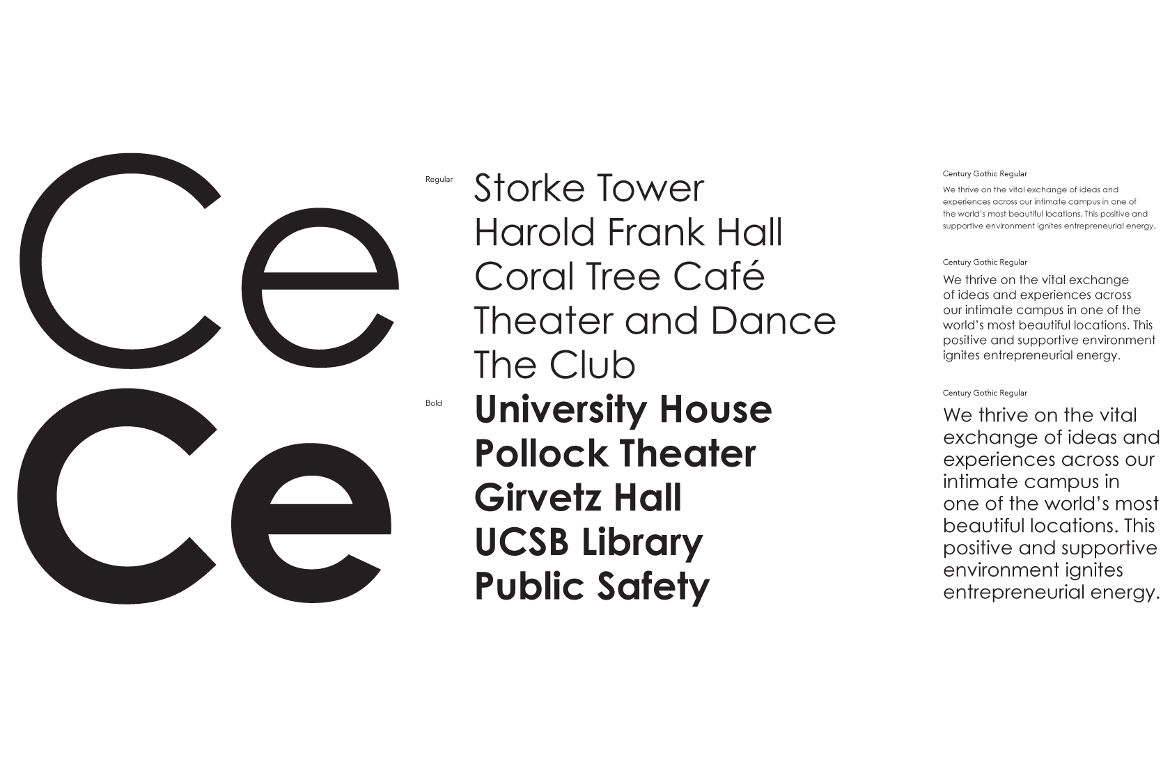 Typography | UC Santa Barbara | Brand Guidelines